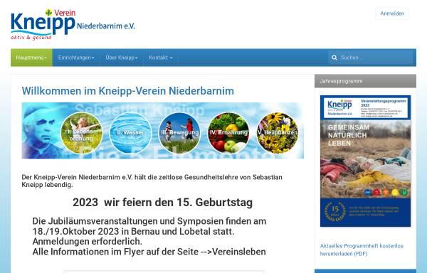 Vorschau von www.kneipp-verein-niederbarnim.de, Kneipp-Verein Niederbarnim