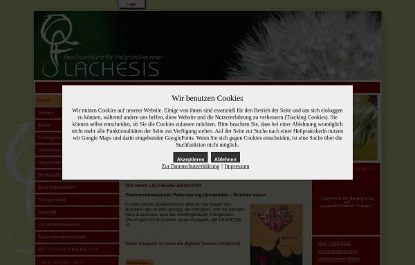Vorschau von www.lachesis.de, Lachesis e.V.