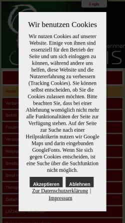 Vorschau der mobilen Webseite www.lachesis.de, Lachesis e.V.