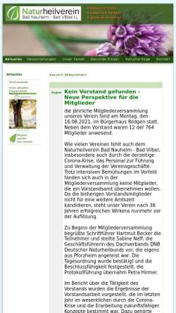 Vorschau der mobilen Webseite www.nhv-wetterau.de, Naturheilverein Bad Nauheim-Friedberg