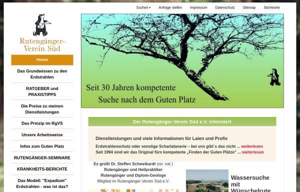 Vorschau von rutengaenger-verein-sued.de, Rutengänger-Verein Süd e. V.