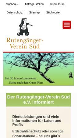 Vorschau der mobilen Webseite rutengaenger-verein-sued.de, Rutengänger-Verein Süd e. V.