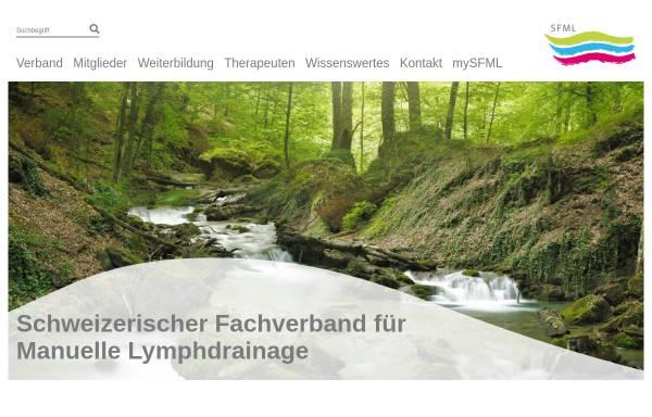Vorschau von www.sfml.ch, Schweizerischer Fachverband für manuelle Lymphdrainage