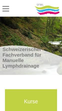 Vorschau der mobilen Webseite www.sfml.ch, Schweizerischer Fachverband für manuelle Lymphdrainage
