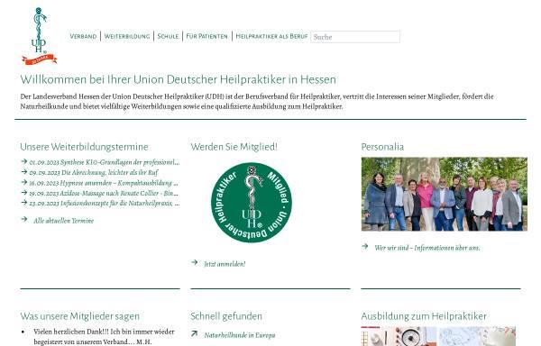 Vorschau von www.udh-hessen.de, Union Deutscher Heilpraktiker Landesverband Hessen