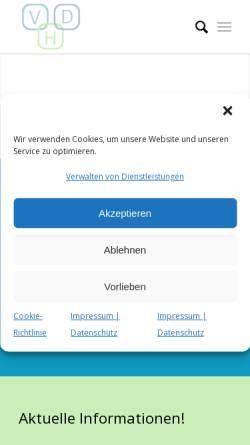 Vorschau der mobilen Webseite www.vhd-heilpraktiker.de, Verband der Heilpraktiker Deutschlands e.V.