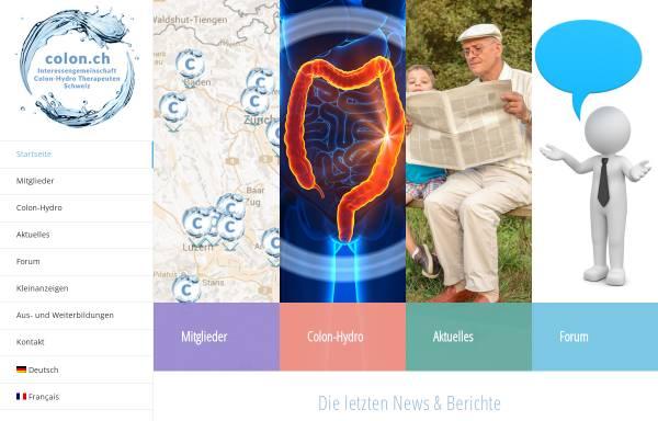 Vorschau von www.colon.ch, Vereinigung Colon Hydro Therapie Verband Schweiz