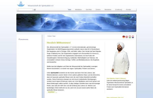 Vorschau von www.sos-online.eu, Wissenschaft der Spiritualität e.V.
