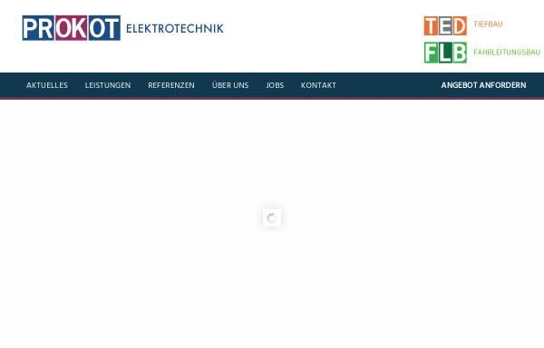Vorschau von www.prokot-elektrotechnik.de, Prokot Elektrotechnik