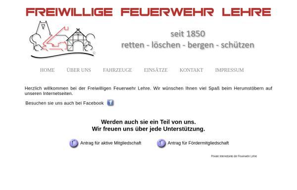 Vorschau von www.feuerwehr-lehre.de, Freiwillige Feuerwehr Lehre