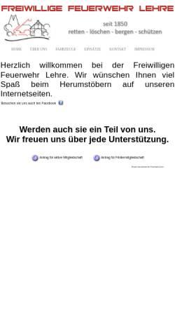 Vorschau der mobilen Webseite www.feuerwehr-lehre.de, Freiwillige Feuerwehr Lehre