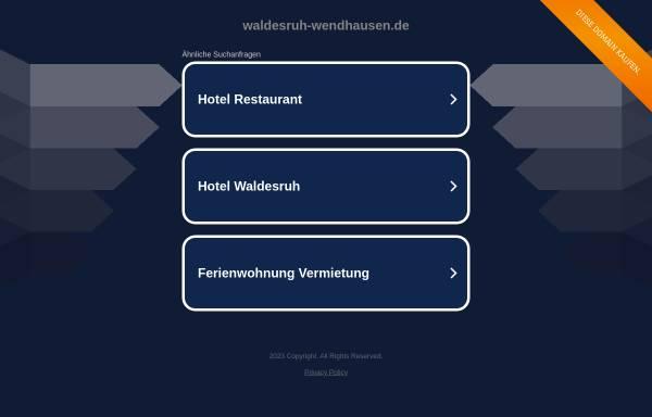 Vorschau von www.waldesruh-wendhausen.de, Gasthaus Waldesruh