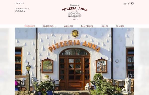 Vorschau von www.pizzeria-anna.de, Pizzeria Anna