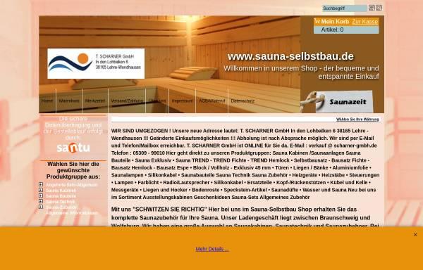 Vorschau von www.sauna-selbstbau.de, T. Scharner GmbH