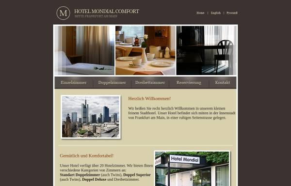 Vorschau von www.hotelmondialfrankfurt.de, Hotel Mondial
