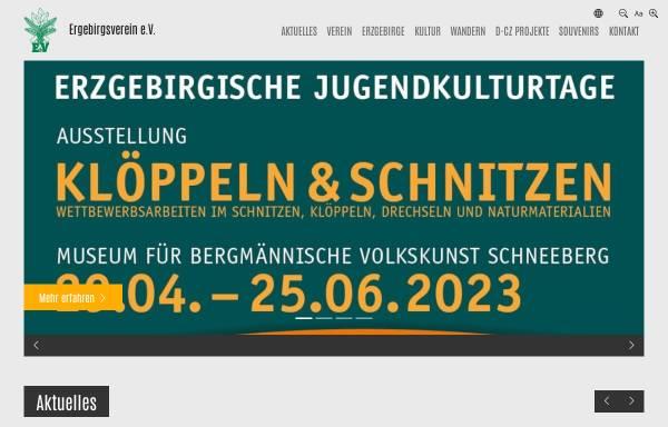 Vorschau von www.erzgebirgsverein.de, Erzgebirgsverein