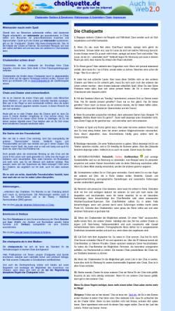 Vorschau der mobilen Webseite www.chatiquette.de, Chatiquette