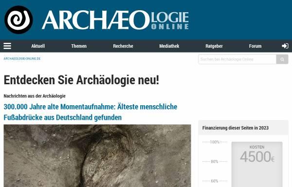 Vorschau von www.archaeologie-online.de, Archäologie Online