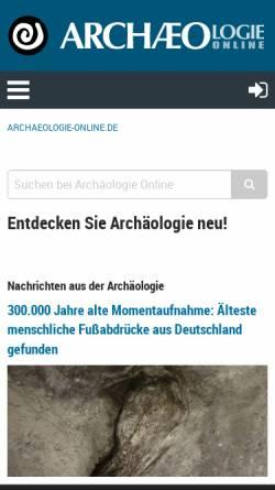 Vorschau der mobilen Webseite www.archaeologie-online.de, Archäologie Online