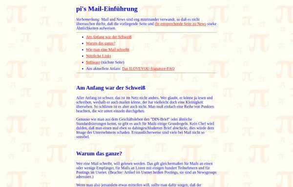 Vorschau von piology.org, Einführung in E-Mail