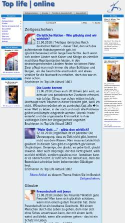 Vorschau der mobilen Webseite www.toplife.at, Top Life Online