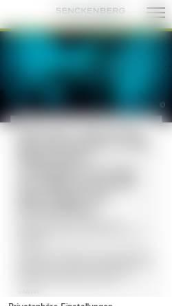 Vorschau der mobilen Webseite www.senckenberg.de, Senckenberg Museum