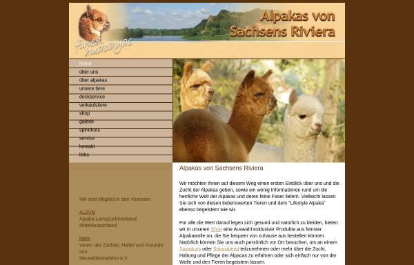 Vorschau von www.riviera-alpakas.de, Riviera Alpakas