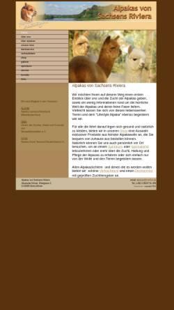 Vorschau der mobilen Webseite www.riviera-alpakas.de, Riviera Alpakas
