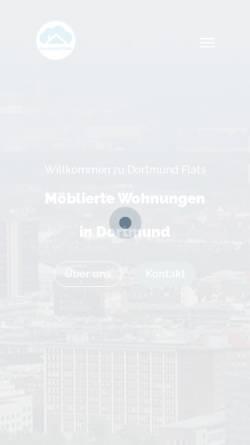 Vorschau der mobilen Webseite www.appartementhaus-dortmund.de, Appartmenthaus Dortmund-City