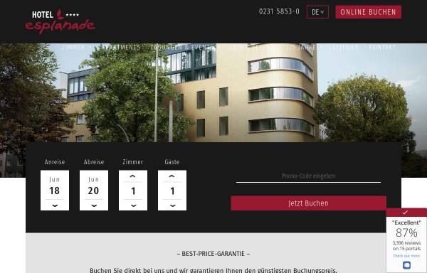 Vorschau von www.esplanade-dortmund.de, Hotel Esplanade