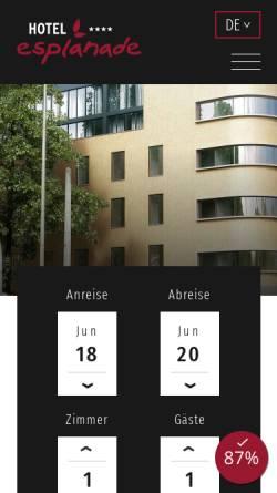 Vorschau der mobilen Webseite www.esplanade-dortmund.de, Hotel Esplanade