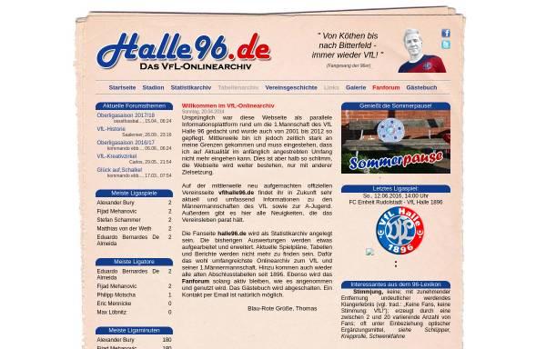Vorschau von www.halle96.de, VfL-Halle 96 - Fanpage