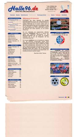 Vorschau der mobilen Webseite www.halle96.de, VfL-Halle 96 - Fanpage