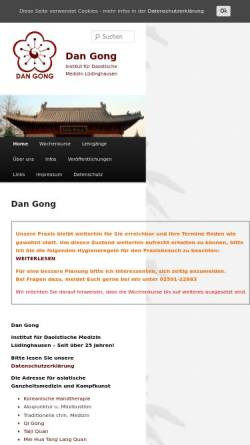 Vorschau der mobilen Webseite dan-gong.de, Dan-Gong - Institut für chinesische Heil- & Bewegungskunst