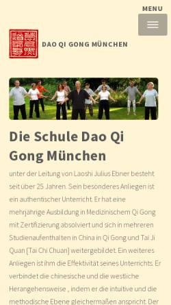 Vorschau der mobilen Webseite daoqigong.de, Dao Qi Gong