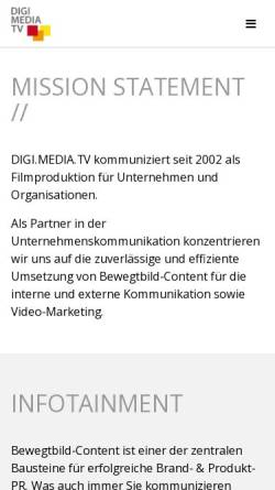 Vorschau der mobilen Webseite www.digi-media.tv, Digi-Media.TV Medienproduktions OEG