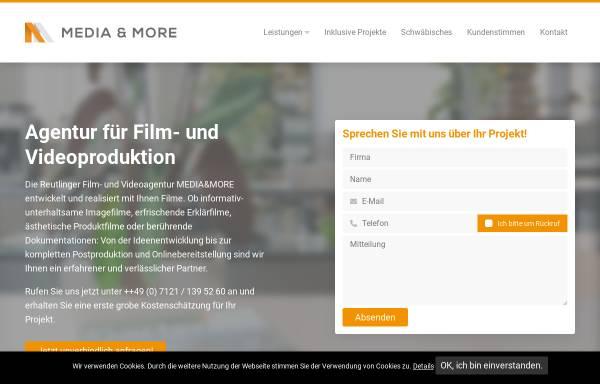 Vorschau von www.mediaandmore.net, Media & More Film- und Fotoproduktion, Alexander K. Mueller