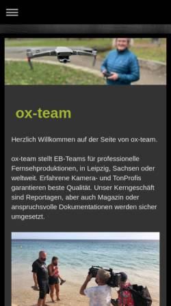 Vorschau der mobilen Webseite ox-produktion.de, OX-Produktion