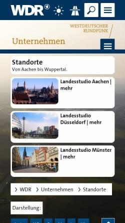 Vorschau der mobilen Webseite www.studio-bielefeld.de, WDR Studio Bielefeld
