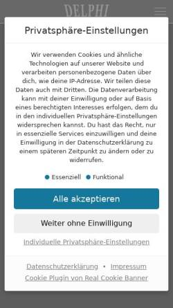 Vorschau der mobilen Webseite www.delphi-film.de, Delphi Filmverleih