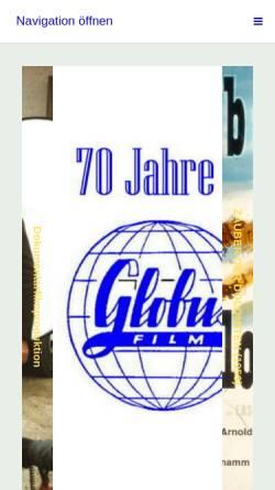 Vorschau der mobilen Webseite www.globus-film.de, Globus-Film