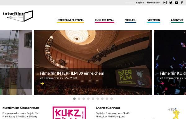 Vorschau von www.interfilm.de, Interfilm Berlin Management GmbH
