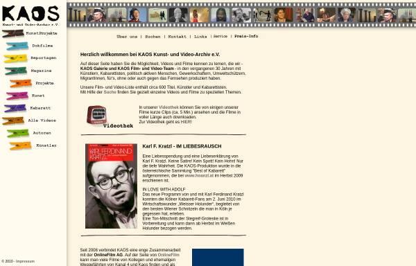 Vorschau von www.kaos-archiv.de, Kaos Film- und Videoarchiv e.V.
