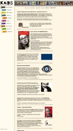 Vorschau der mobilen Webseite www.kaos-archiv.de, Kaos Film- und Videoarchiv e.V.