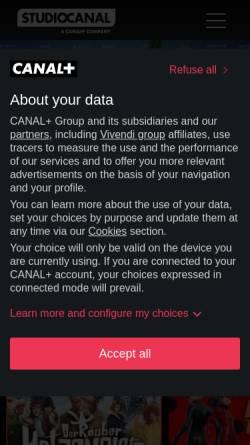 Vorschau der mobilen Webseite www.kinowelt.de, Kinowelt