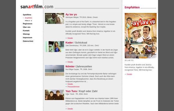 Vorschau von www.sanartfilm.com, sanartfilm. Filmverleih