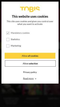 Vorschau der mobilen Webseite www.tobis.de, Tobis Film GmbH & Co. KG