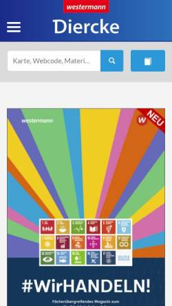 Vorschau der mobilen Webseite www.diercke.de, Diercke
