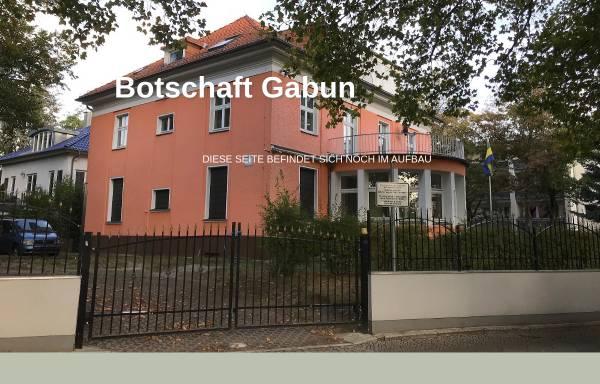 Vorschau von www.botschaft-gabun.de, Botschaft von Gabun in Deutschland