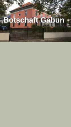 Vorschau der mobilen Webseite www.botschaft-gabun.de, Botschaft von Gabun in Deutschland